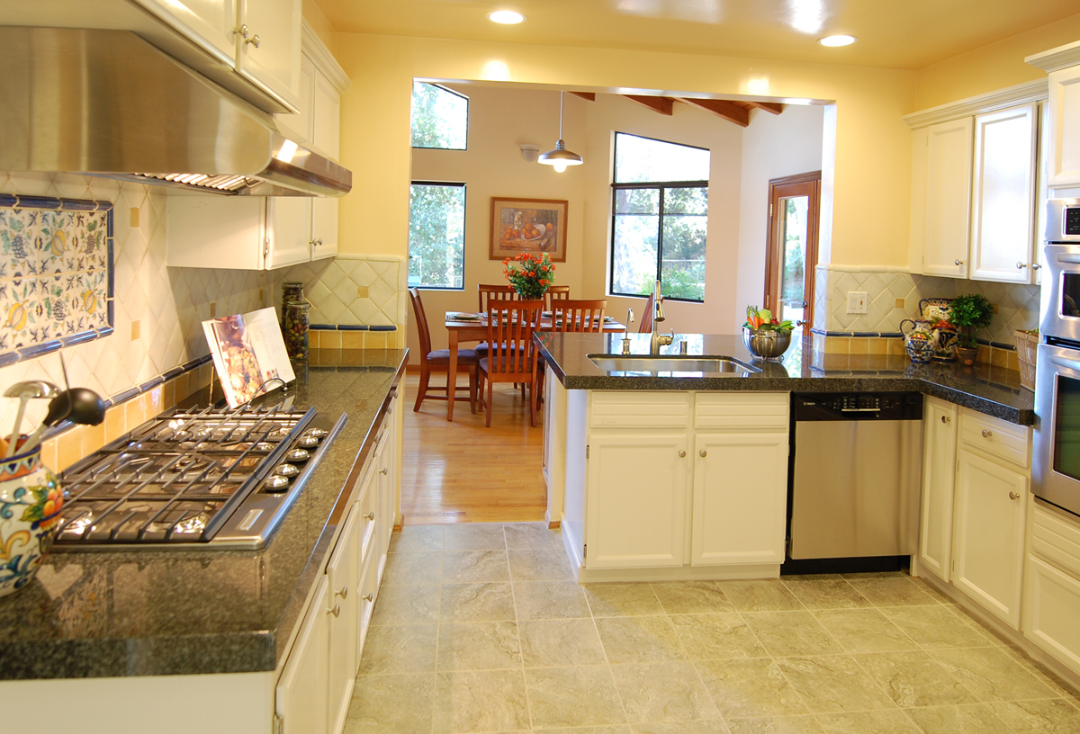 Kitchen with Granite Counters Stainless Steel Appliances