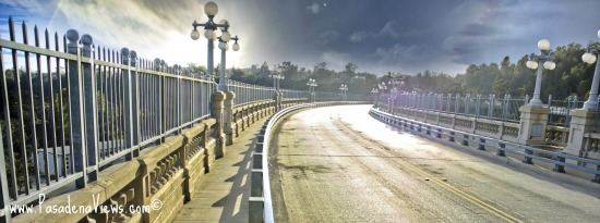 Colorado Bridge after the rain - Pasadena California