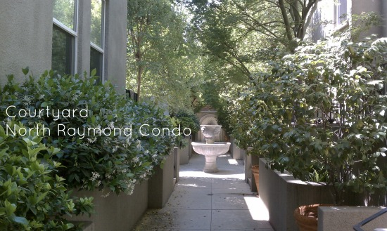 Bright and Elegant courtyard at 80 N,. Raymond